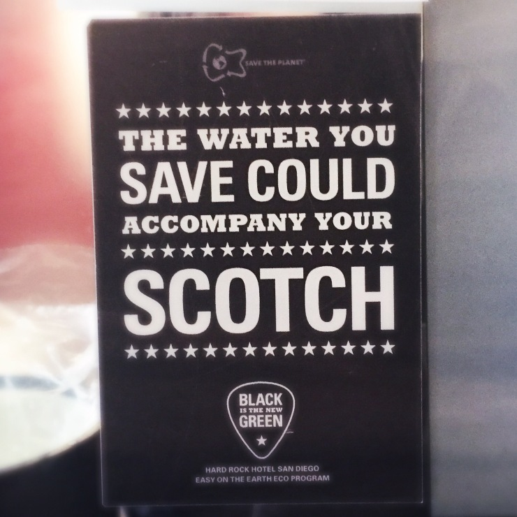 On point water conservation messaging.